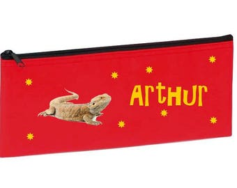 Red Pogona personalized with name package
