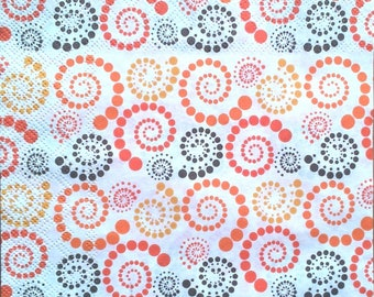 Orange spiral paper towel