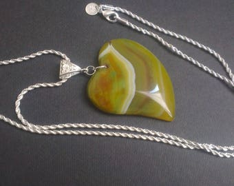 Heart pendant - bail and chain