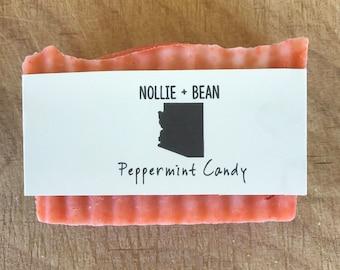 Peppermint Candy Soap / Cold Process Soap / Handmade Soap / Homemade Soap / Natural Soap / Bar Soap / Vegan Soap