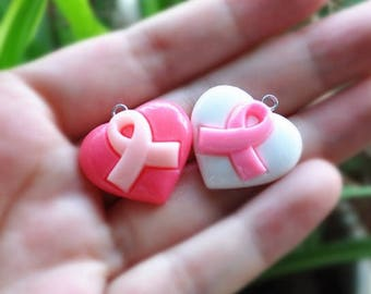 20pcs resin charms necklace heart hope pendant for DIY Necklace/Bracelet