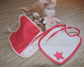 Star theme baby bibs set