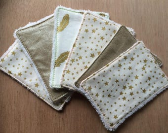 Wipes Terry fabrics and fluffy Golden