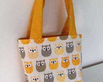 Small bag with owls pattern