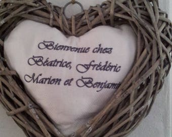 Christmas gift heart door to welcome
