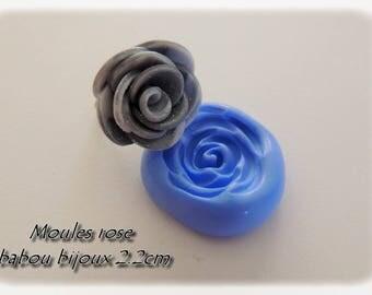 Rose fimo silicone mold