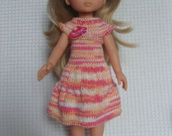 The darlings, Paola Reina multicolor knit doll dress