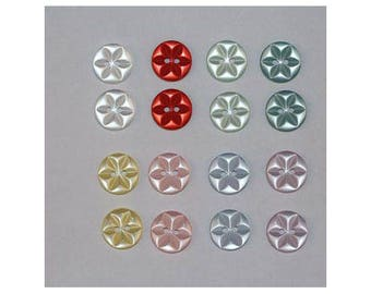 160 x buttons basic 14 mm Star 2 holes set J *-000851