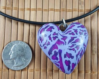 Purple Leopard Print Heart #1