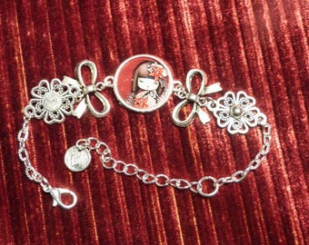 BRACELET SILVER CHINESE DOLL THEME