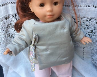 Lined Quilted Jacket Liberty Katie and Millie doll 36 cm