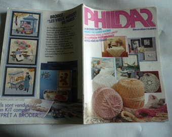 Vintage French magazine, catalog decoration and leisure, crochet knitting patterns, tablecloths, bedspreds, placemats crochet, cushions,