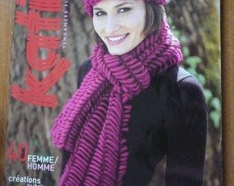 KATIA french magazine n. 59 - knitting magazine - 40 models for men and women - WINTER