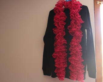 fuchsia pink acrylic scarves