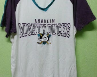 Vintage Mighty Duck Vneck T-Shirt