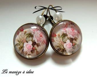 "Bronze earrings ears/sleeper ""name of the rose""."
