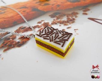 Neapolitan cake necklace