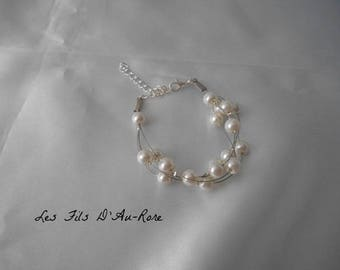 """Thomas"" wedding bracelet Ivory Pearl"