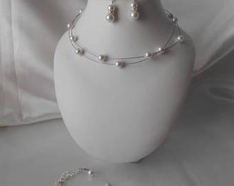 Wedding pieces GABRIELLE necklace, earrings & bracelet set