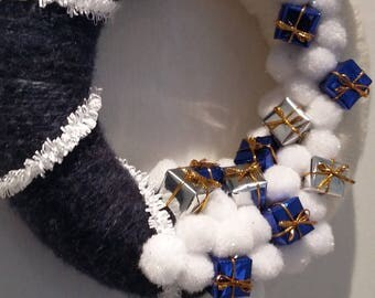 """rain of presents"" Christmas wreath"