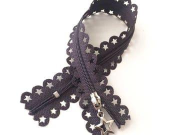 DARK gray / Zip lace star 25cm
