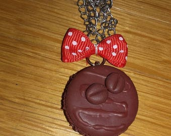 Necklace macaroon chocolate coffee