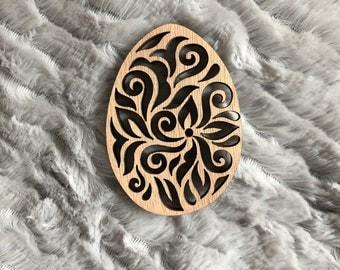 Easter egg wooden design - Easter - Easter tree - Decoration decoration wood pattern