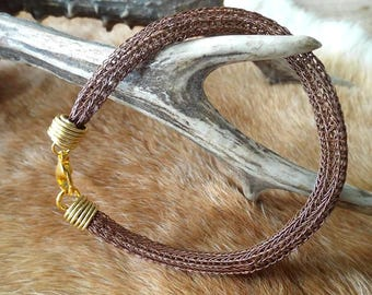 Copper colored Viking Knit bracelet