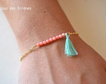 Coral rose gold plated bracelet