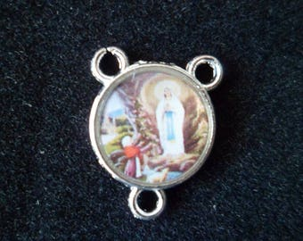 1 Center Rosary our Lady of Lourdes 17 mm