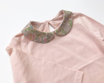 18 months - shirt long sleeve Peter Pan collar Liberty Betsy pistachio