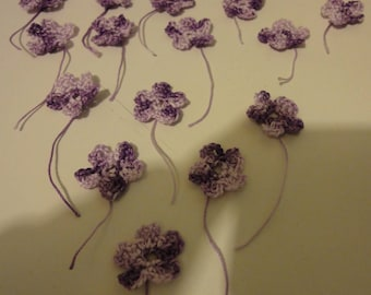 SOLD BY THREE - FLOWERS MITIGATES PARMA MADE WITH COTTON - HANDMADE - NEW