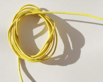 Yellow 2mm thick cotton cord