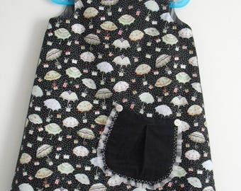 "Pretty winter dress ""Little umbrellas and gifts"" T 3 years"