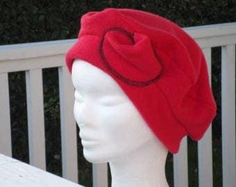 Comfortable women unique red winter beret Hat Cap
