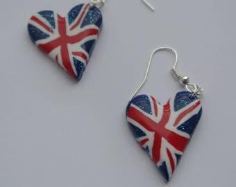 Earrings heart made in England