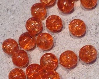 orange 8mm X 20 pcs beads