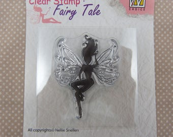 Stamp clear embellishments: fairy