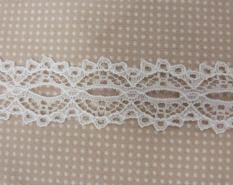 White wide lace