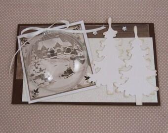 """Vintage """"Noel"""" 3D handmade card"""