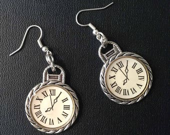 What time is it, o'clock earrings