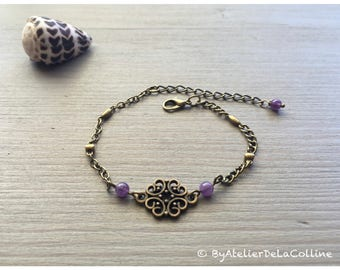 Art deco bracelet with amethyst,