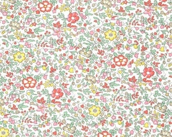 Printed fabric Liberty pattern Liberty KATIE and MILLIE pastel pink green