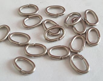 50 6 x 4 mm open stainless steel ring