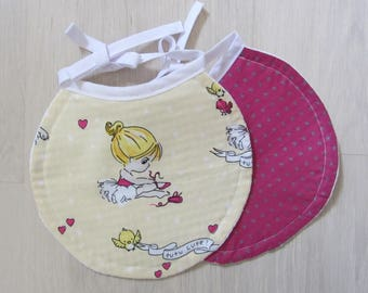 Set of two bibs-assorted dancer and Fuchsia star