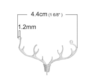 1 connector accessory jewelry 4.4x3.3 cm within 15 days deer horn