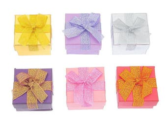 30 mixed gem square 5 x 5 cm within 15 days gift boxes