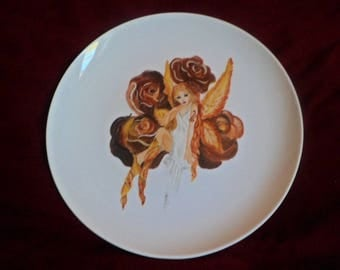 fully customizable manga pattern hand painted porcelain plate