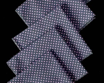 "Set of 5 handkerchiefs ""Dots"" pink / gray"