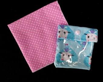Small Kitty wallet + polka dot handkerchief